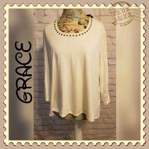 Grace Cream Top